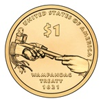 2011-P Native American Dollar Wampanoag Treaty