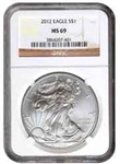 2012 American Silver Eagle NGC MS69