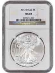 2013 American Silver Eagle NGC MS69