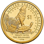 2013-D Native American Dollar Treaty With the Delawares