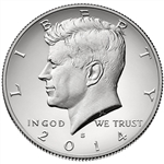 2014-S Enhanced Uncirculated Kennedy Silver Half Dollar