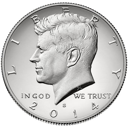2014 S SILVER KENNEDY HALF DOLLAR