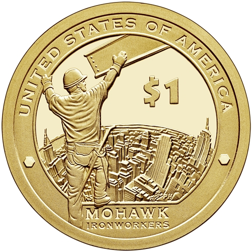 2015 S Proof Native American Dollar Mohawk Iron Workers