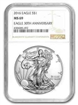 2016 American Silver Eagle NGC MS69