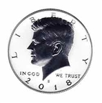 2018-S Reverse Silver Proof Kennedy Half Dollar
