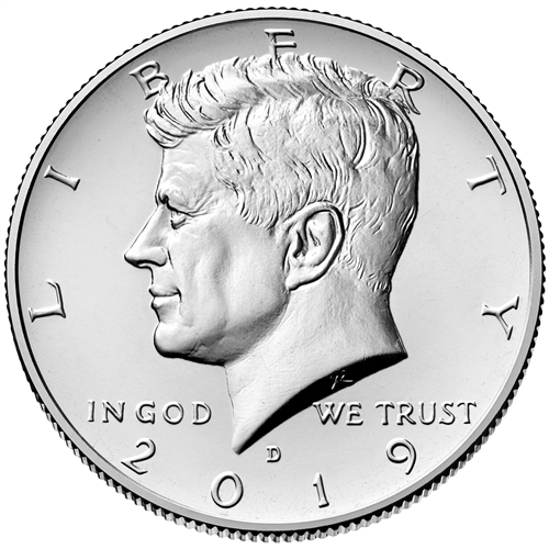 Coins from Mint Rolls 2019 D Kennedy Half Dollar ~ U.S