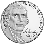 2019-S Proof Jefferson Nickel