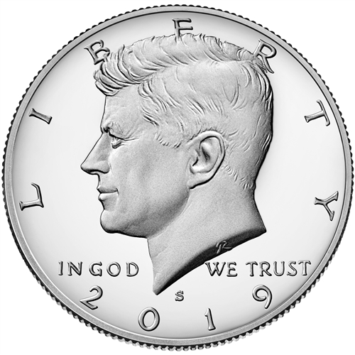 2019 Kennedy Half Dollar Clad Proof from complete US Proof Set
