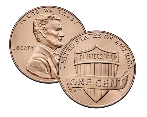 "2019 P LINCOLN SHIELD PENNY ROLL /""BRILLIANT UNCIRCULATED/"""