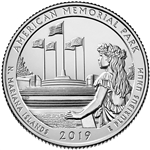 2019-P American Memorial National Park Quarter