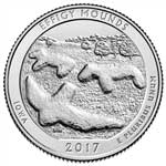 2017-D Effigy Mounds National Park Quarter