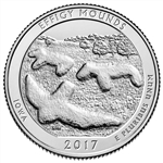 2017-P Effigy Mounds National Park Quarter