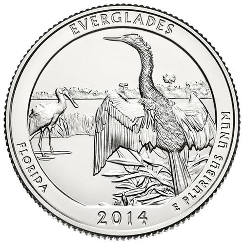 2014-S Everglades National Park Gem DCAM Silver Proof Florida