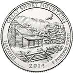 2014-S Great Smoky Mountains America the Beautiful Quarter