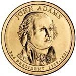 2007-D John Adams Presidential Dollar
