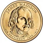 2007-P James Madison Presidential Dollar