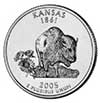 Kansas Proof State Quarter 2005-S