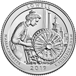 2019-P Lowell Historic National Park Quarter