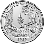 2020-P Marsh Billings National Park Quarter