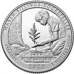 2020-S Silver Proof Marsh Billings Rockefeller National Park Quarter