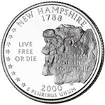 New Hampshire State Quarter 2000-D