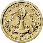 2019-D New Jersey Innovation Dollar Coin