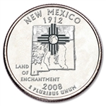 New Mexico State Quarter 2008-D