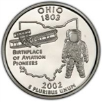 Ohio Proof State Quarter 2002-S