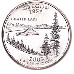 Oregon State Quarter 2005-P