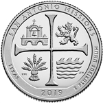 2019-S San Antonio Missions Park Proof Quarter