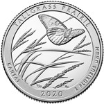 2020-S Silver Proof Tallgrass Prairie National Park Quarter