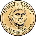 2007-D Thomas Jefferson Presidential Dollar