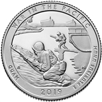 2019-S War in the Pacific Park Proof Quarter