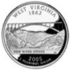 West Virginia State Quarter 2005-D