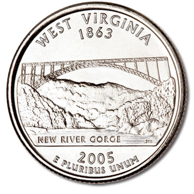 2005D WEST VIRGINIA STATE QUARTER