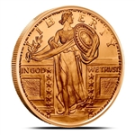 Standing LIberty Design 1 oz Copper Rounds
