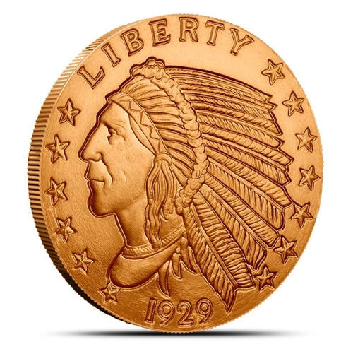 1 Oz Copper Coin Native American Indian Series # 2 Copper Bullion Round Bullion Other Bullion