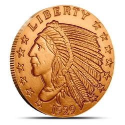 Incuse Indian Head Penny Design 1 oz Copper Rounds