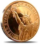 Statue of Liberty 1 oz Copper Rounds