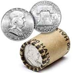 90% Silver Franklin Half Dollar Roll