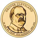 2012-D Grover Cleveland 1st Term Presidential Dollar