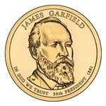 2011-D James Garfield Presidential Dollar