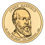 2011-P James Garfield Presidential Dollar