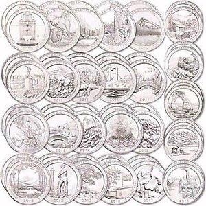2016 P /& D America the Beautiful Quarter 10 Coin Set