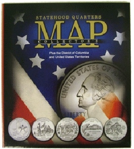 Compact State Map.State Quarter Collectors Map Compact Version Statehood Quarter