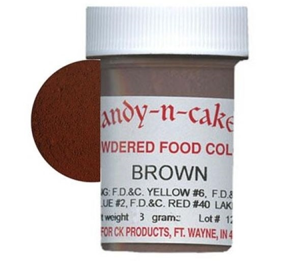 Dry Powder Brown Food Coloring 3 grams