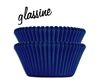 Blue Dark Glassine Standard Cupcake Liners Baking Cup