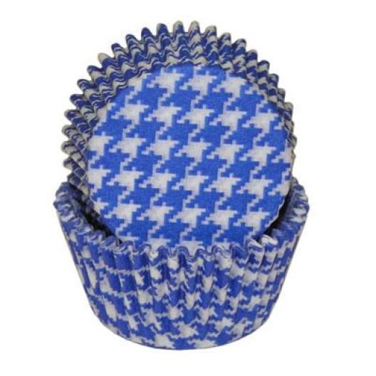 Blue Houndstooth Standard Cupcake Liners Baking Cup