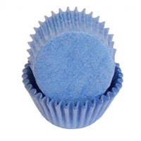 Light Blue Mini Cupcake Liners Baking Cups