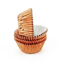 Rose Gold (Copper) Metallic Mini Cupcake Liners Baking Cups